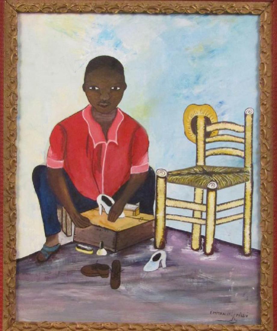 Emmanuel Midi - Hatian Oil on Canvas