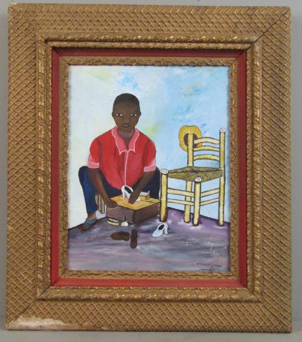 Emmanuel Midi - Hatian Oil on Canvas - 2