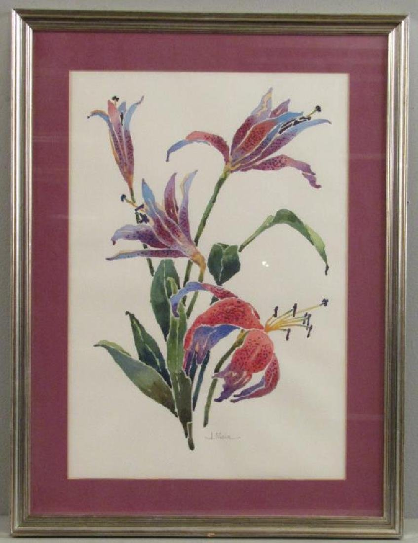 Signed J. Moia - Watercolor on Paper - 2