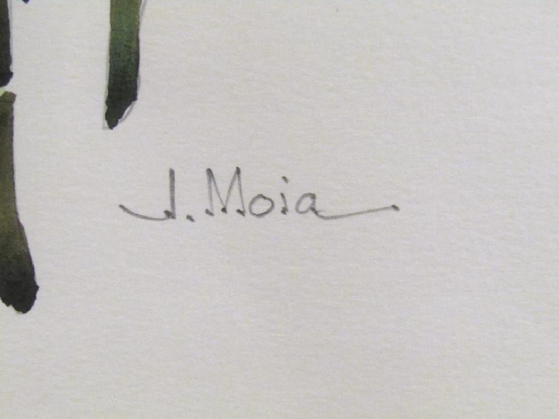 Signed J. Moia - Watercolor on Paper - 5