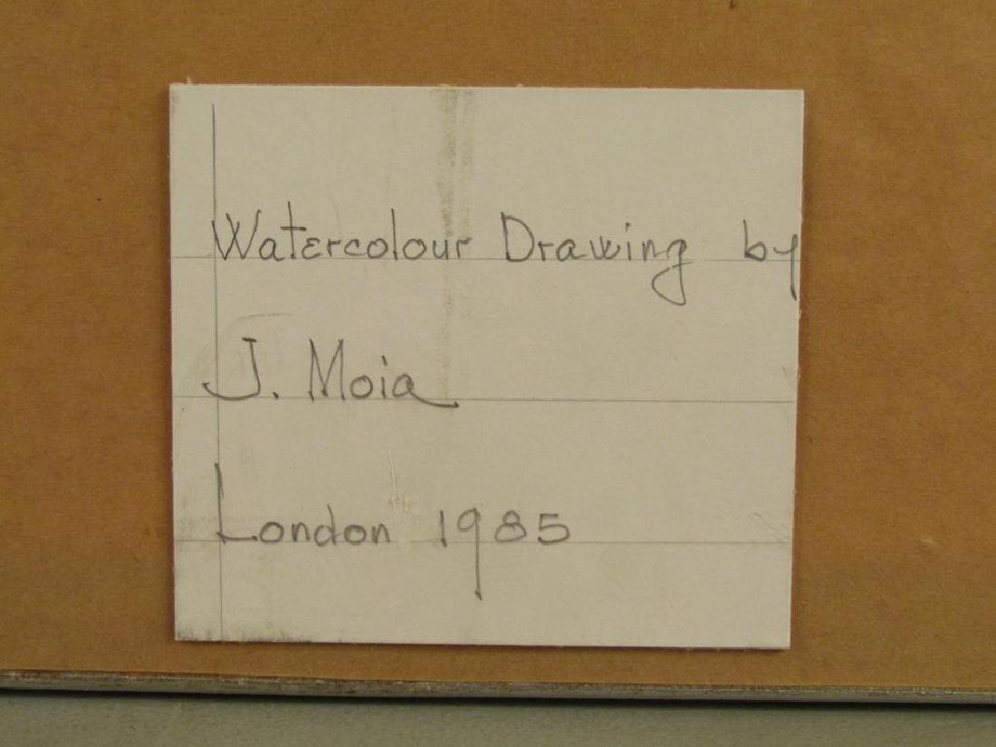 Signed J. Moia - Watercolor on Paper - 6