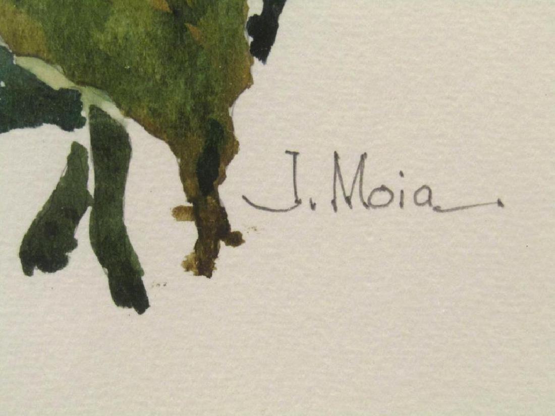 Signed J. Moia - Mixed Media - 5