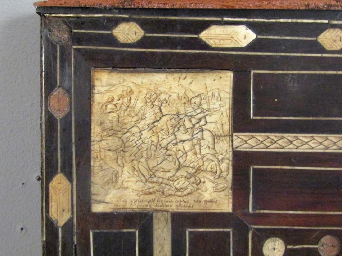 Antique Italian Large Rosewood Panel (As Is) - 2