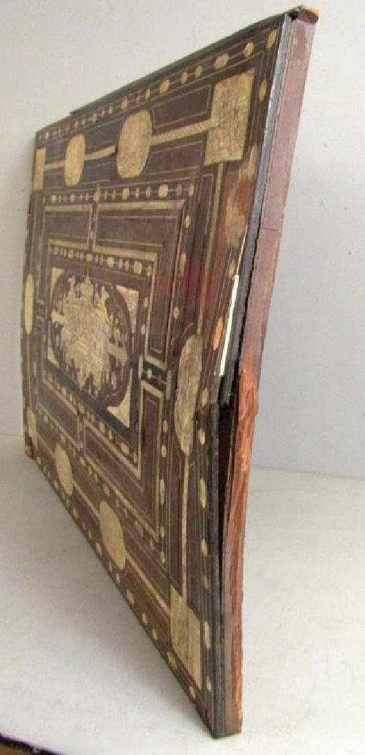 Antique Italian Large Rosewood Panel (As Is) - 7