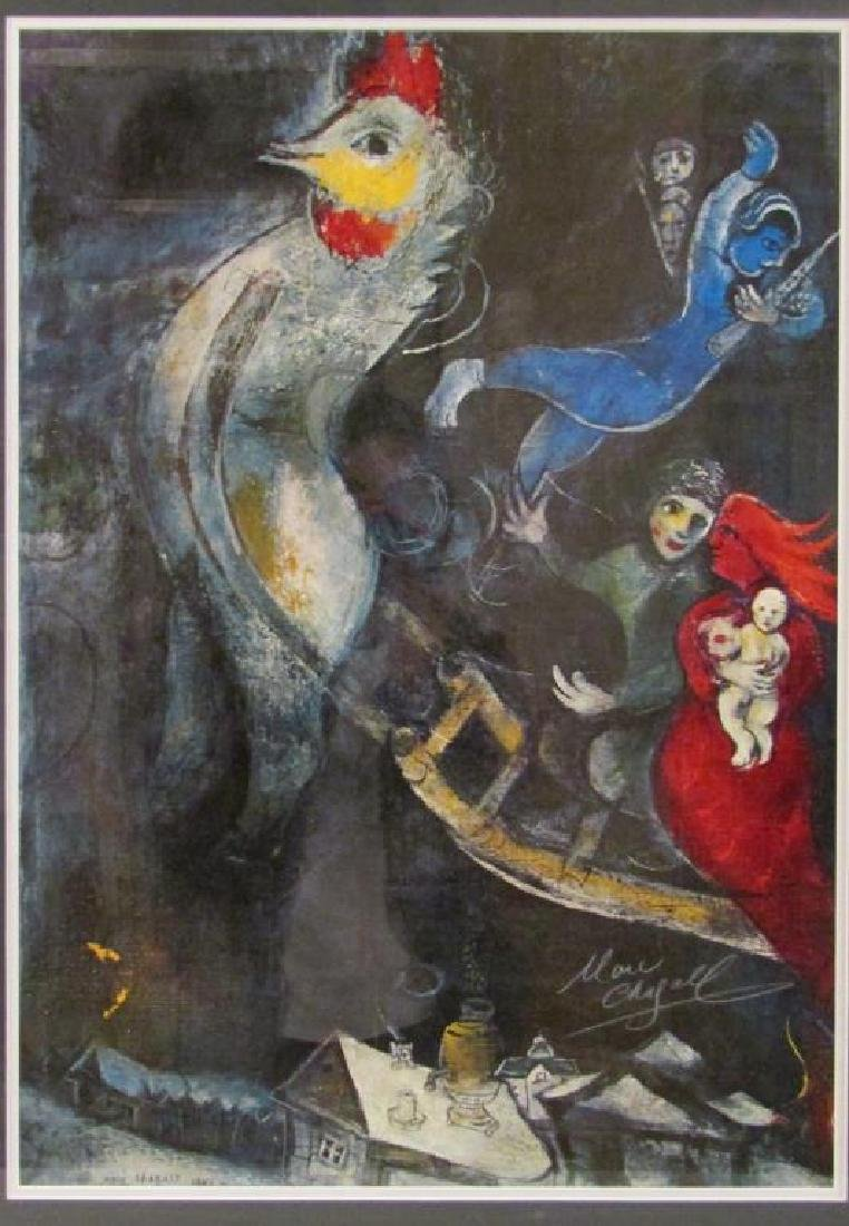 Signed Marc Chagall Poster