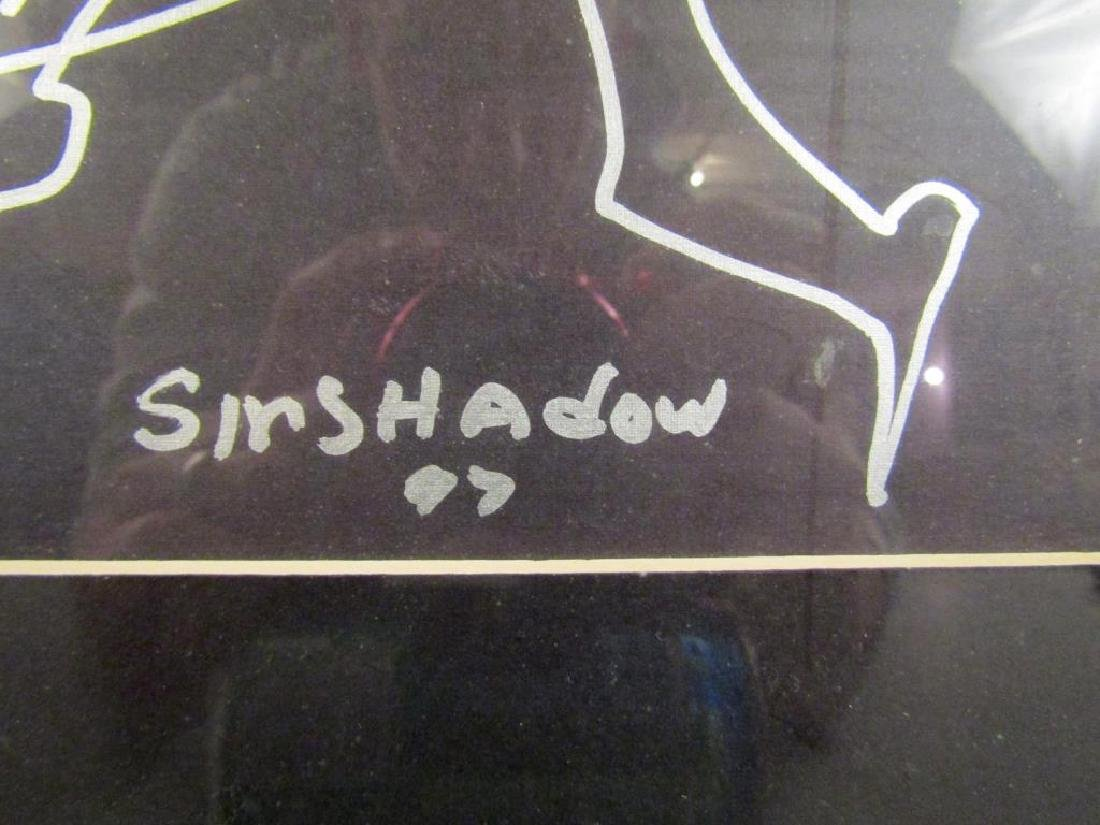 Sir Shadow - Silver Marker on Paper - 5