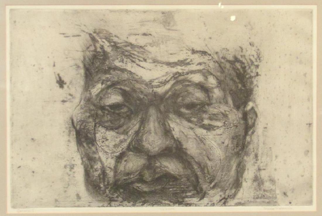 Munio Makuuchi (American, 1934-2000) - Etching
