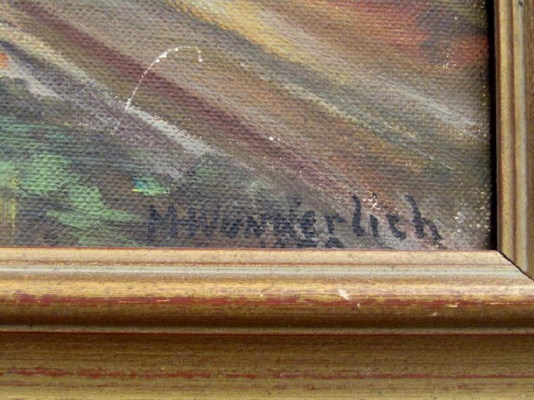 Signed M. Wunderlich - Oil on Board - 4