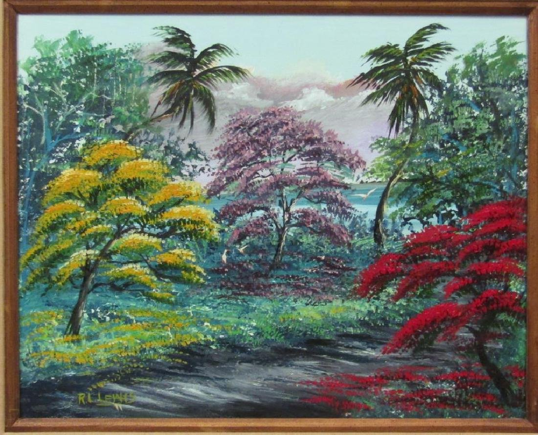 Signed R. L. Lewis - Oil on Canvas