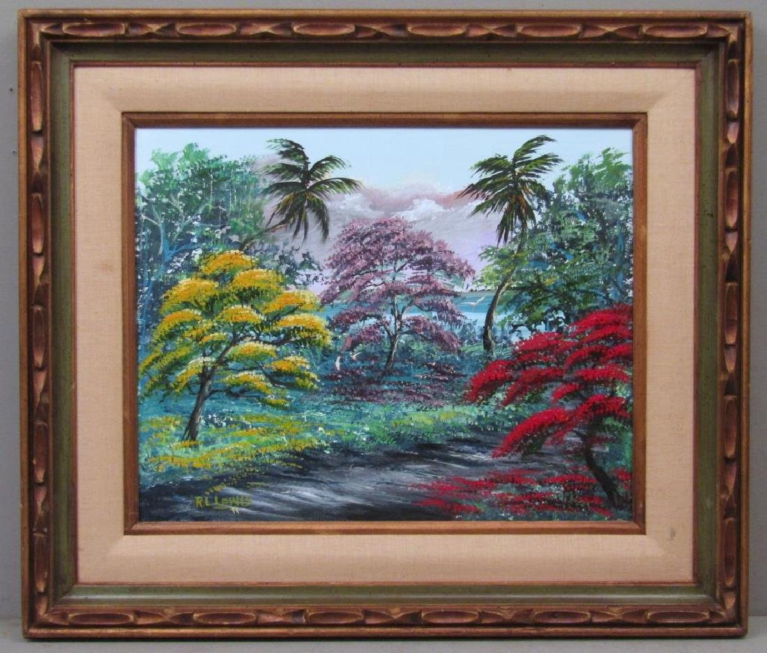 Signed R. L. Lewis - Oil on Canvas - 2