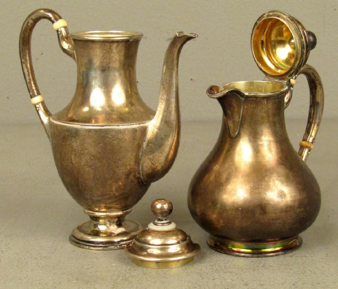 Russian Silver Tea Ensemble *** - 3