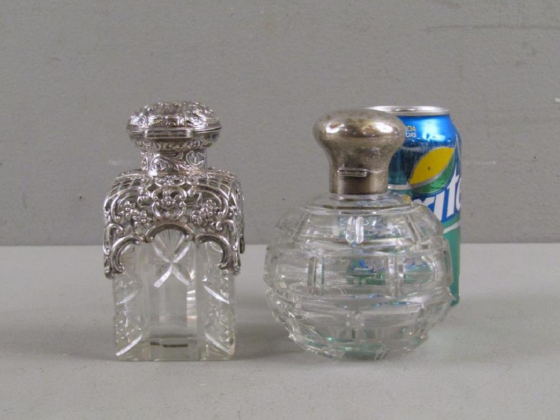 2 Victorian Silver and Cut Glass Perfumes - 2