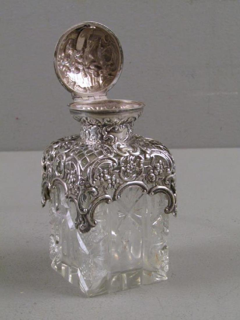 2 Victorian Silver and Cut Glass Perfumes - 5