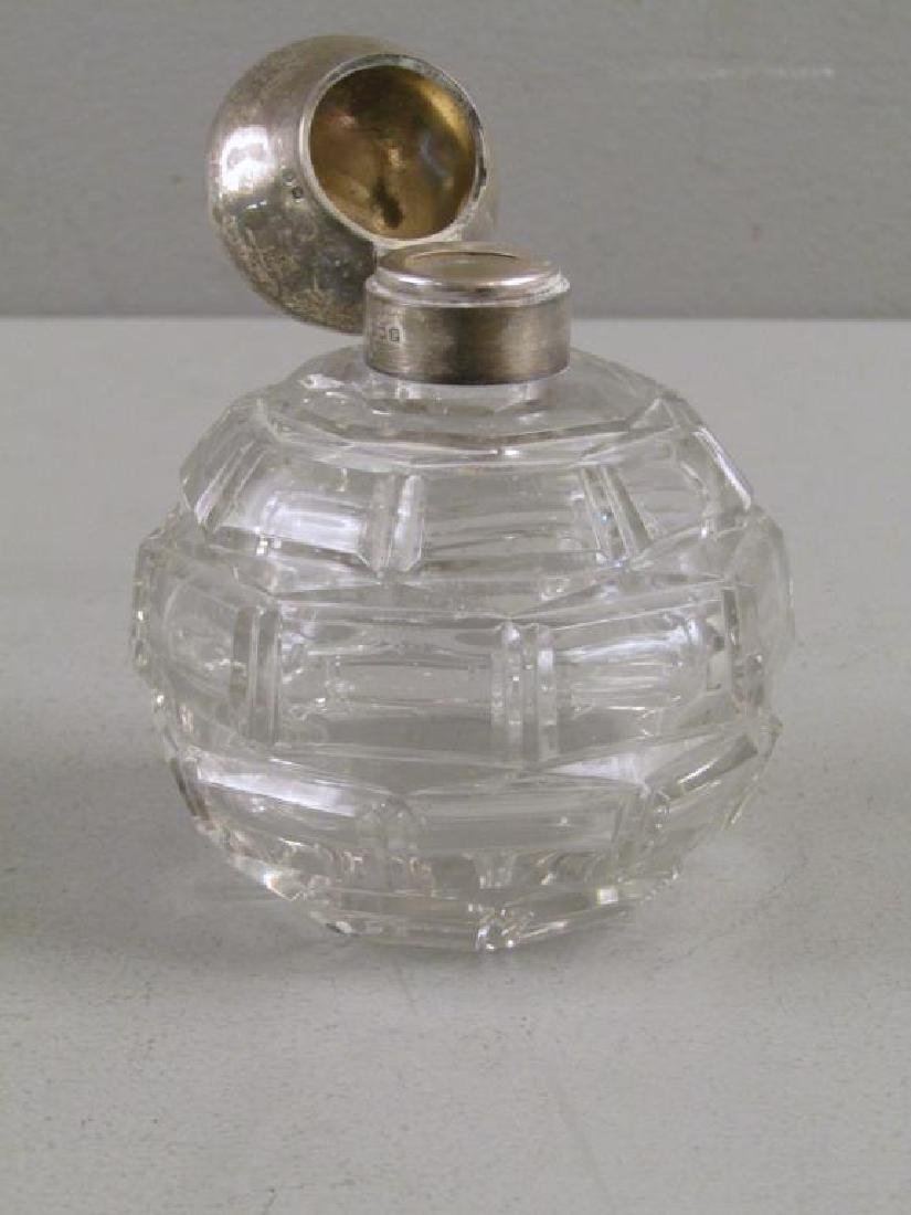 2 Victorian Silver and Cut Glass Perfumes - 6