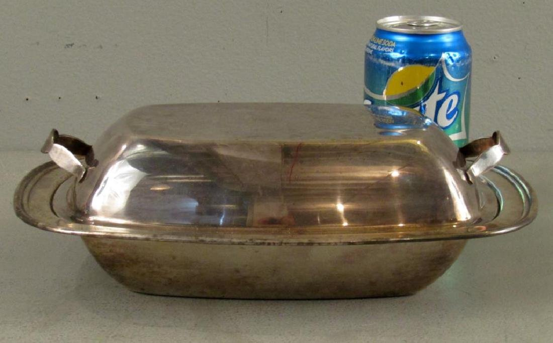 Silver Plated Covered Vegetable Dish - 2
