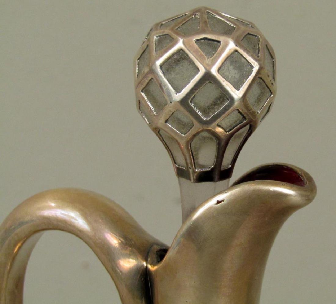 Pair Sterling Silver Deposit Decanters (as is) - 3