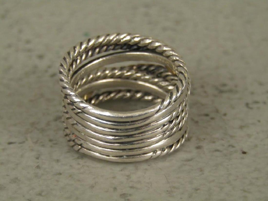 David Yurman Sterling and 18K Gold Ring - 3