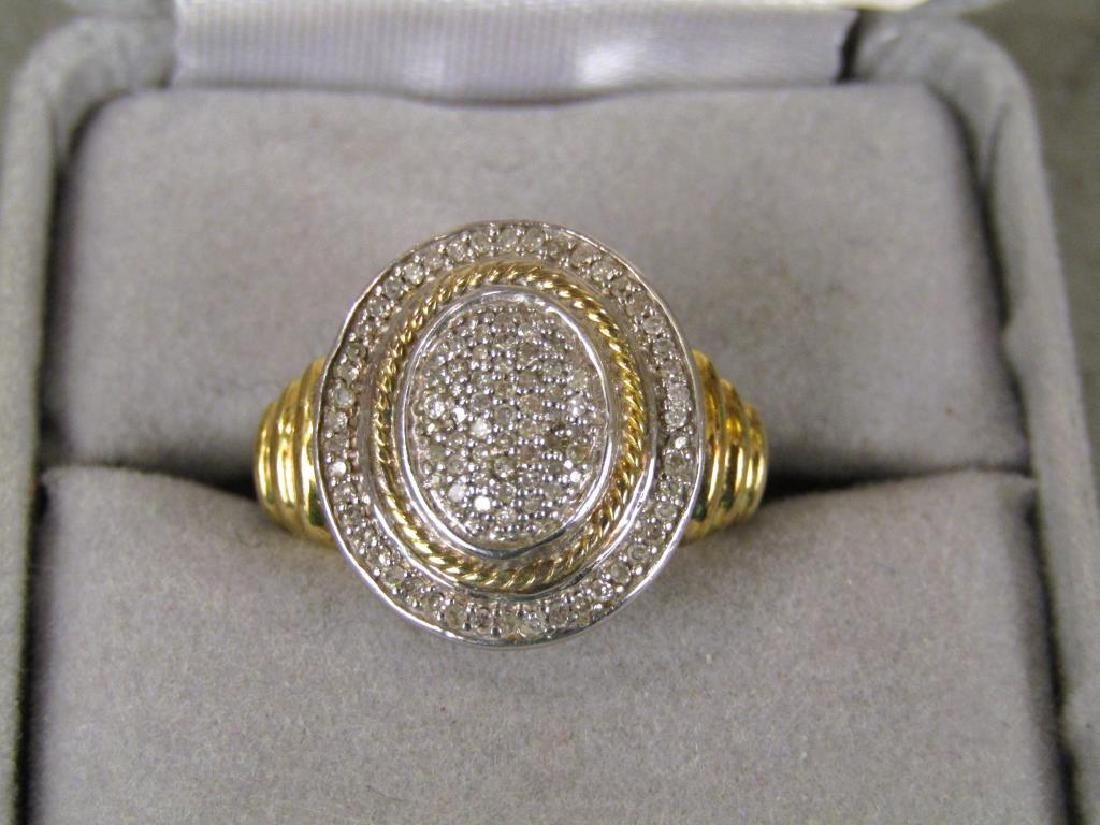 Sterling Silver and Pave Diamond Ring - 2