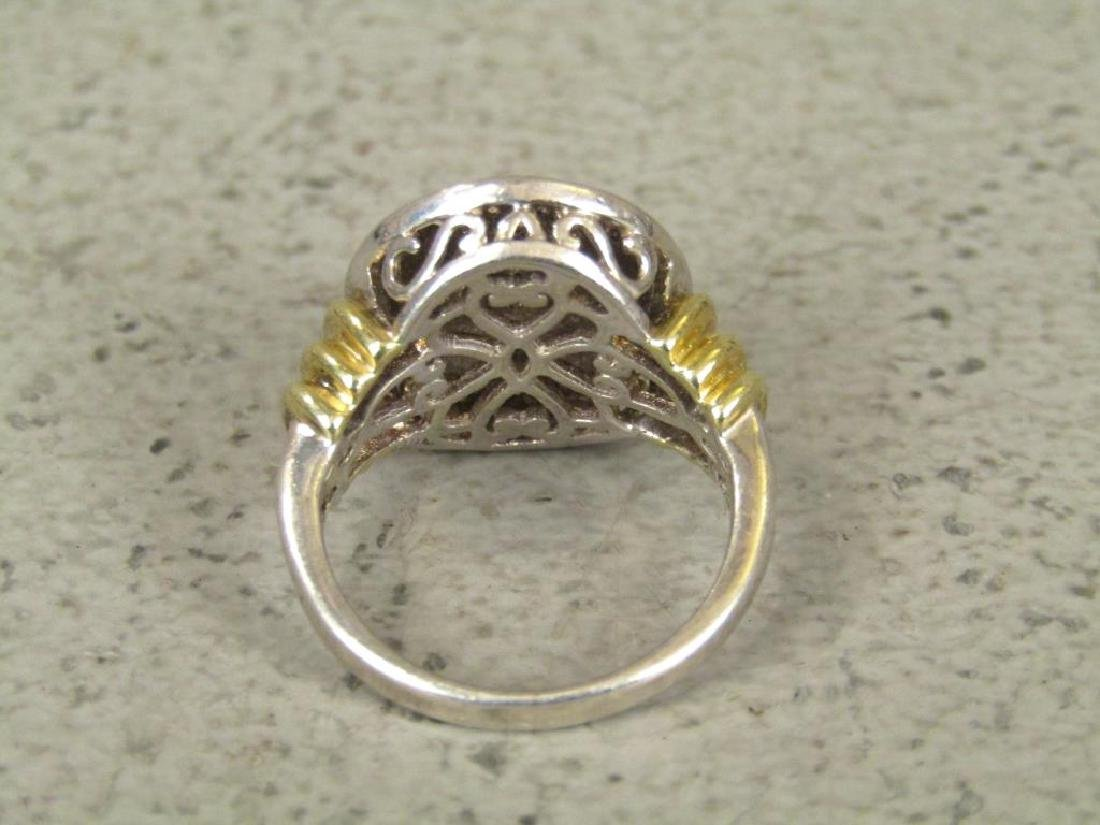 Sterling Silver and Pave Diamond Ring - 4