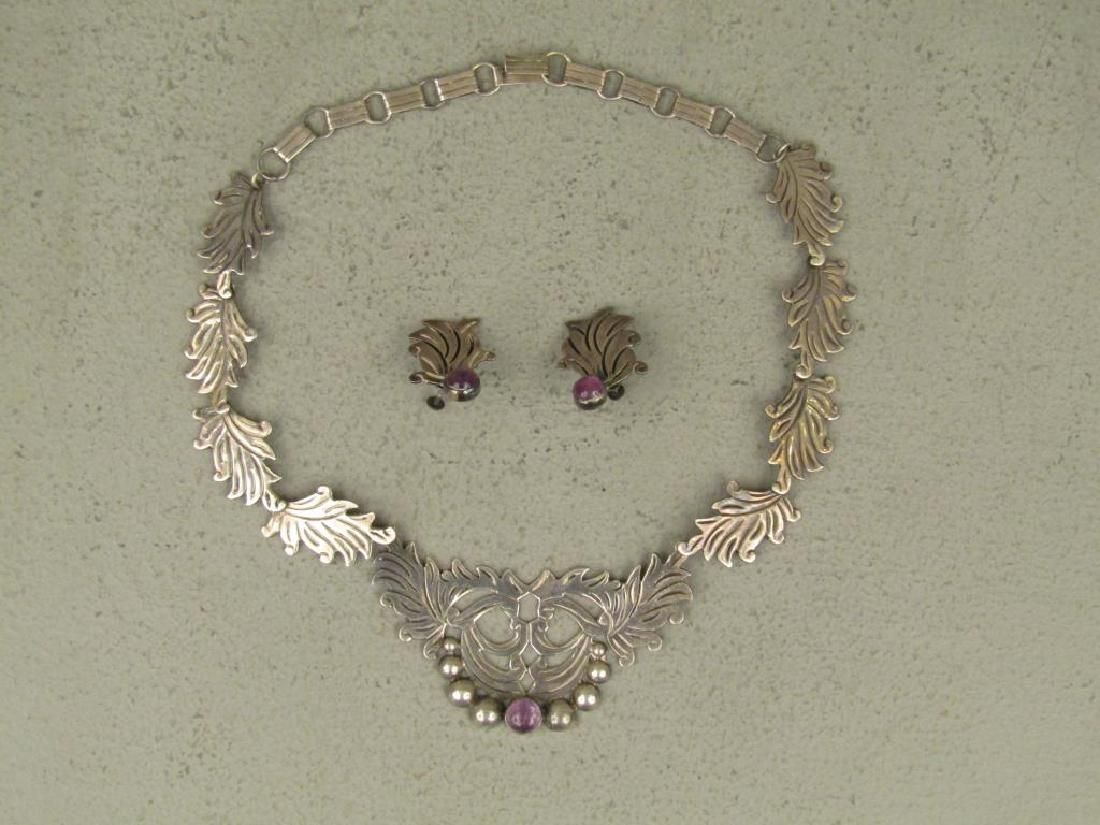 Mexican Silver Jewelry Suite