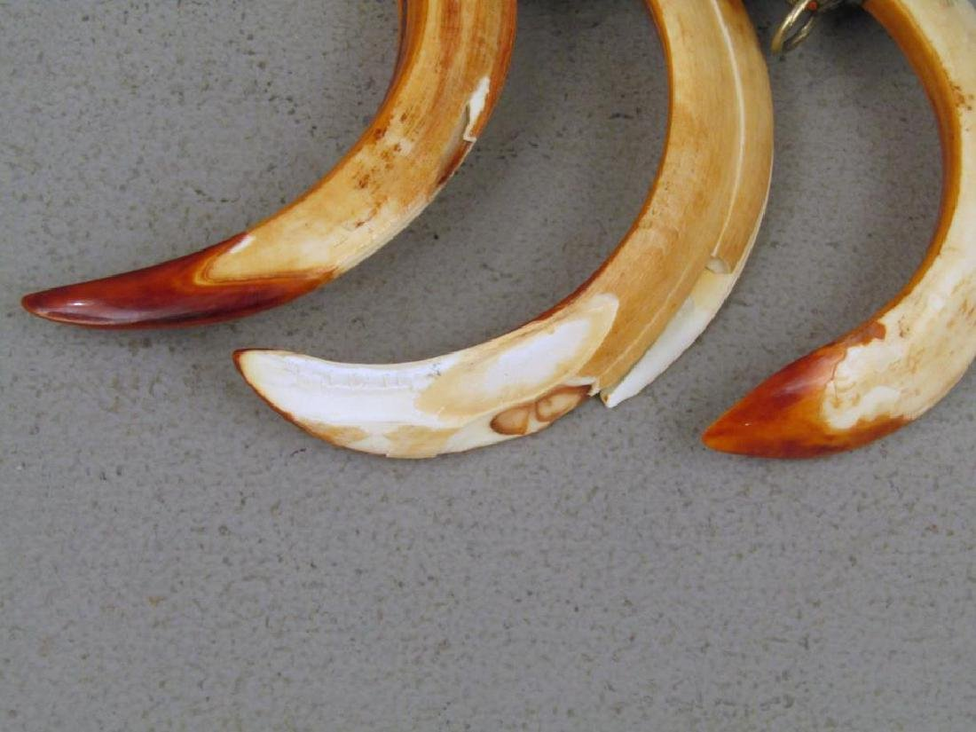 3 Metal and Horn Ornaments - 4