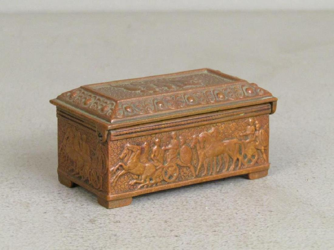 Carved Bone Handle and Small Bronze Box - 4