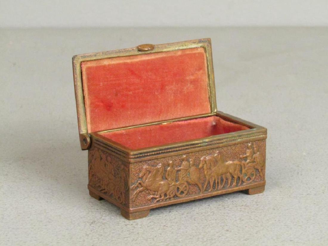 Carved Bone Handle and Small Bronze Box - 5