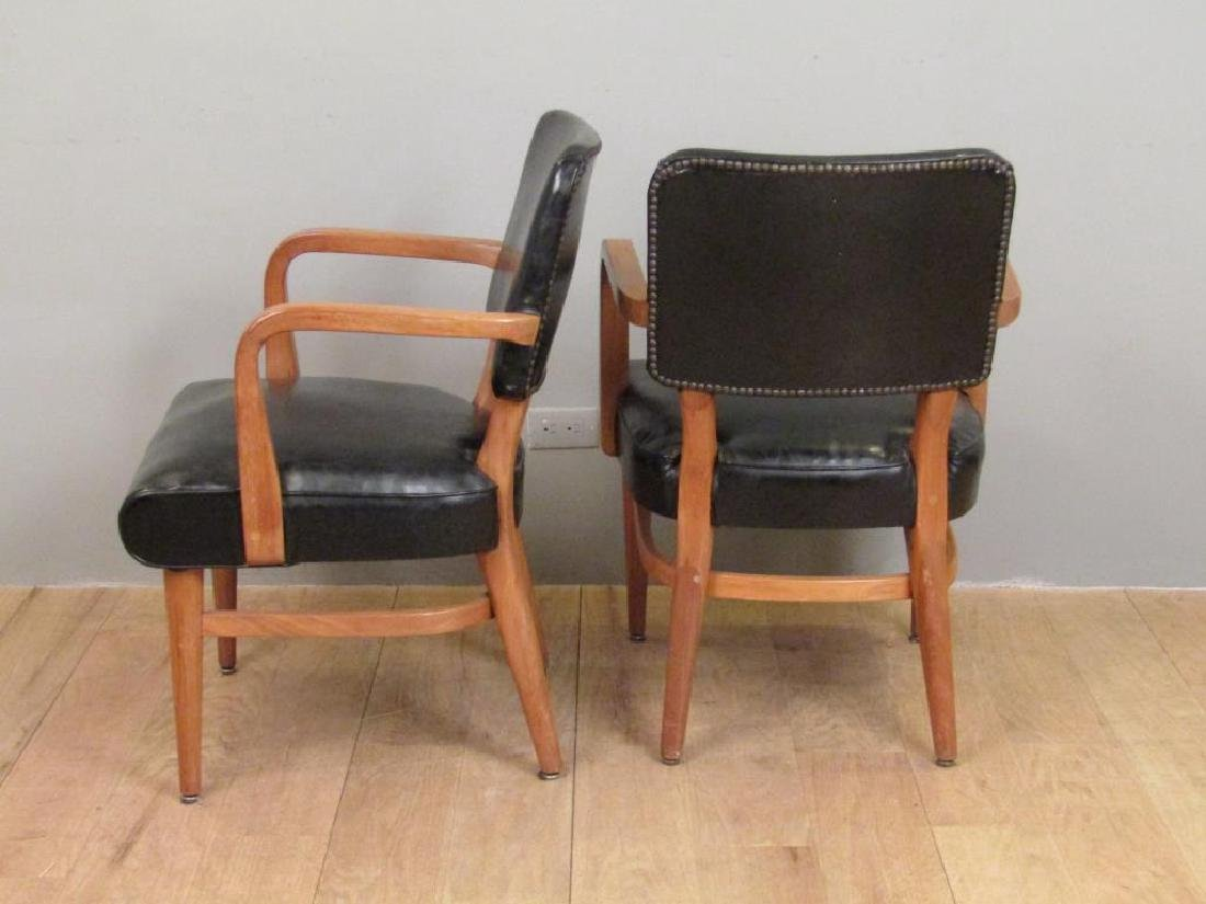 Pair W.H. Gunlocke Chair Co. Arm Chairs - 2