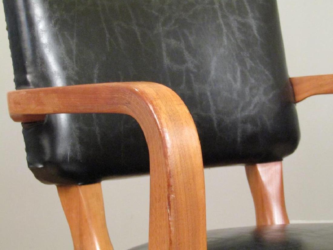 Pair W.H. Gunlocke Chair Co. Arm Chairs - 4
