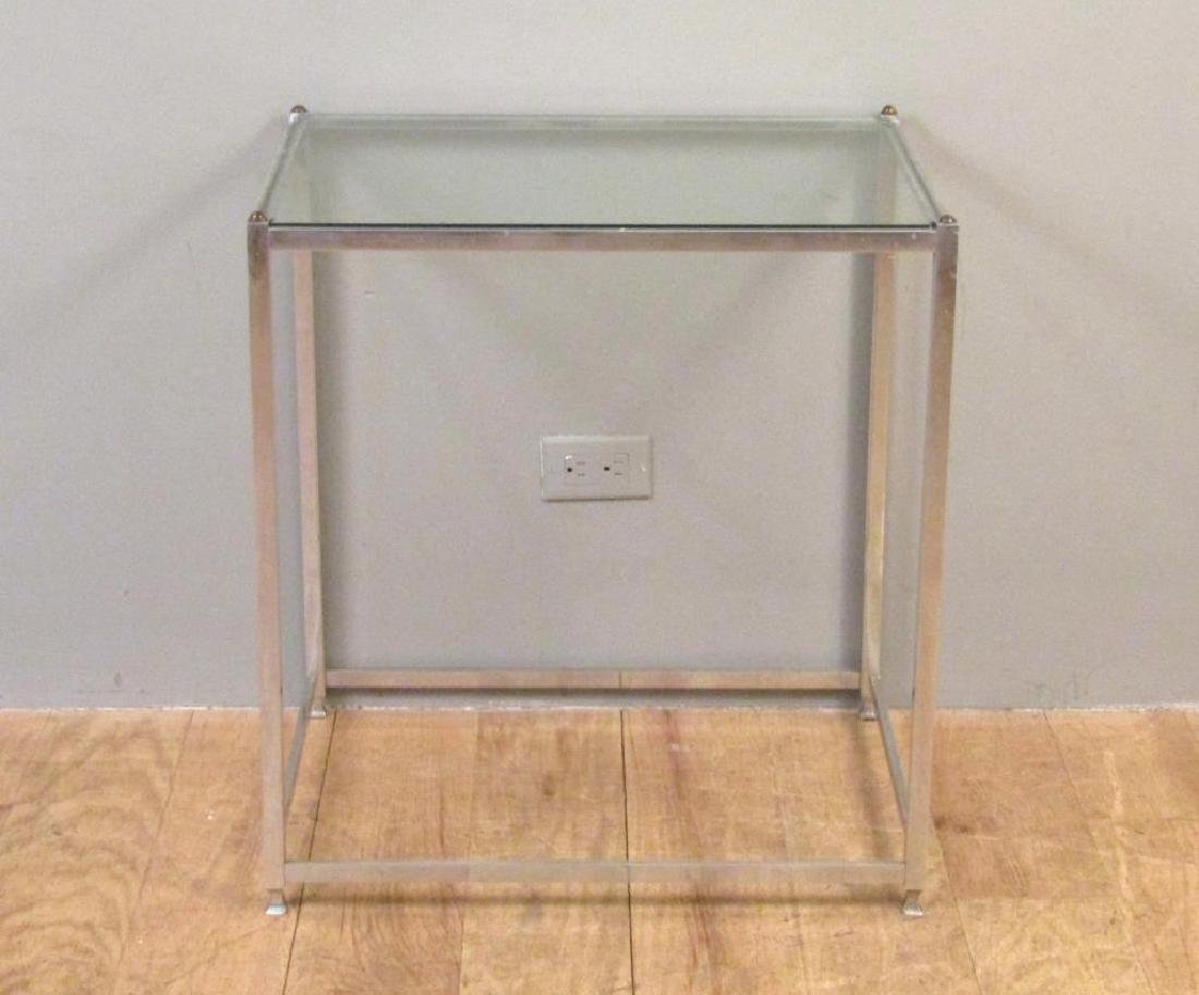 Mid Century John Vesey Chrome Table