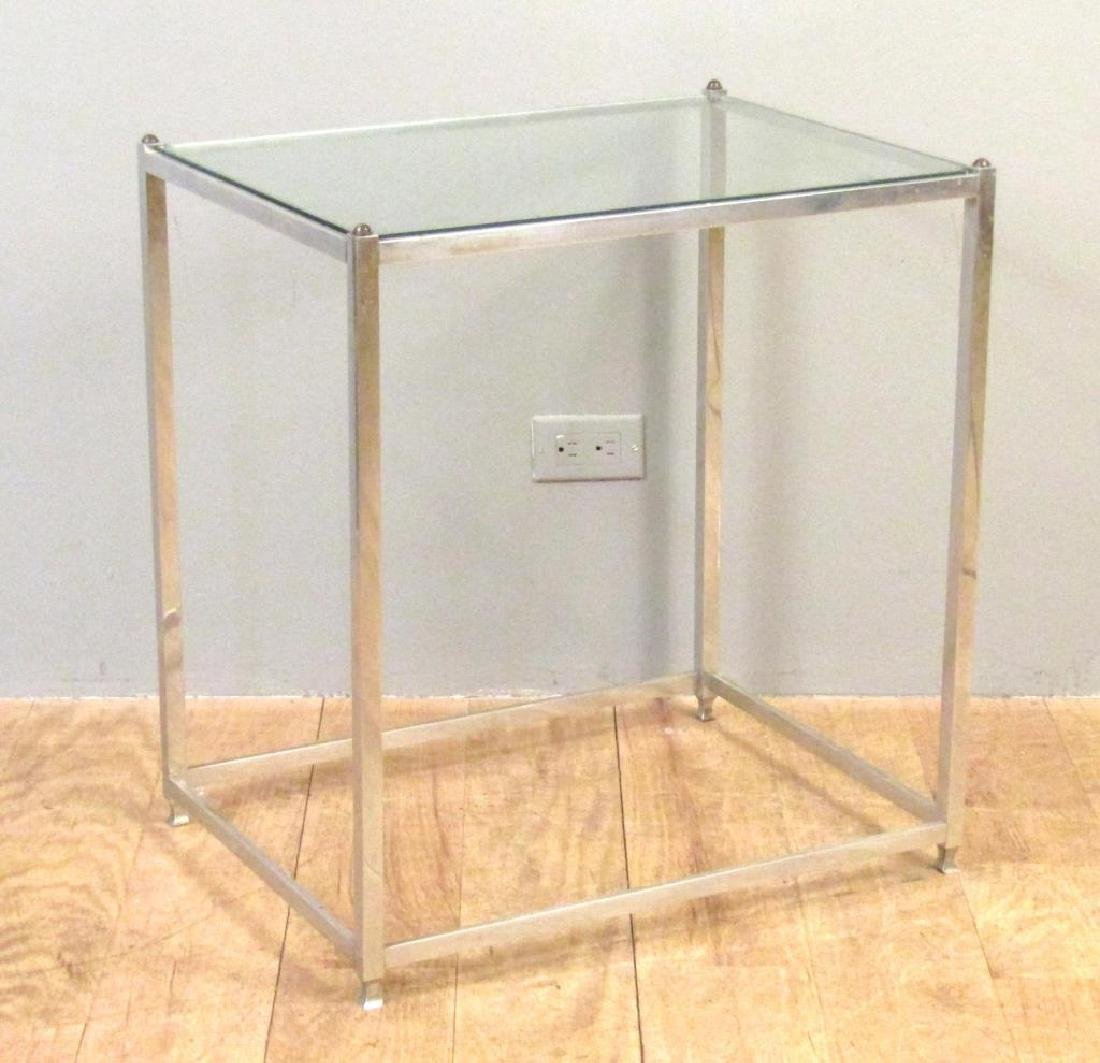 Mid Century John Vesey Chrome Table - 2
