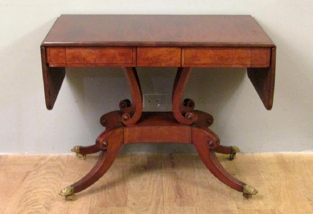 English Regency Style Mahogany Sofa Table