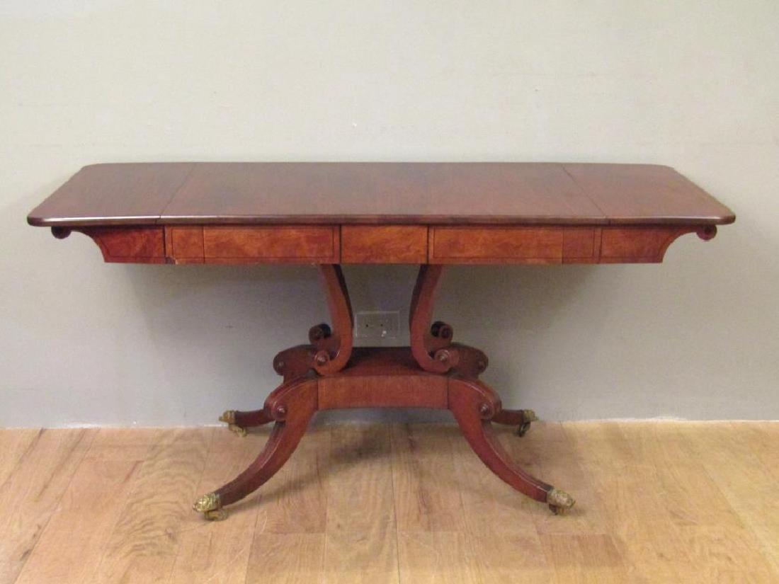 English Regency Style Mahogany Sofa Table - 2