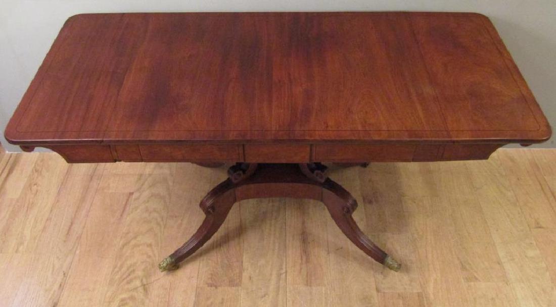 English Regency Style Mahogany Sofa Table - 3