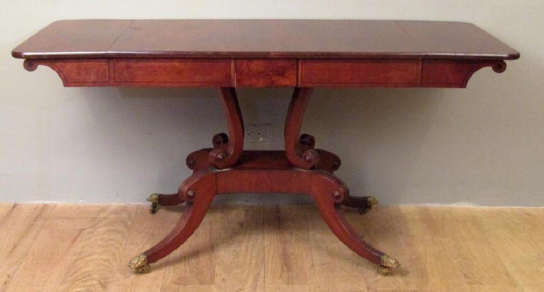 English Regency Style Mahogany Sofa Table - 9