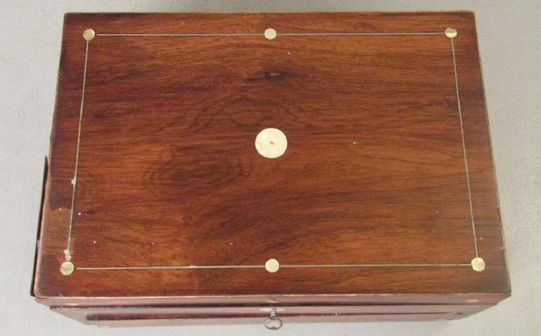 English Mahogany Lap Desk / Vanity Case - 2