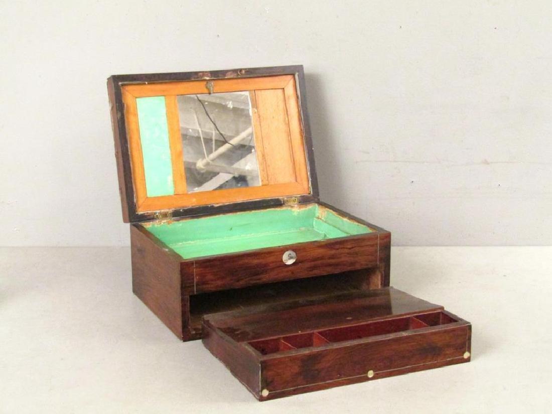 English Mahogany Lap Desk / Vanity Case - 3