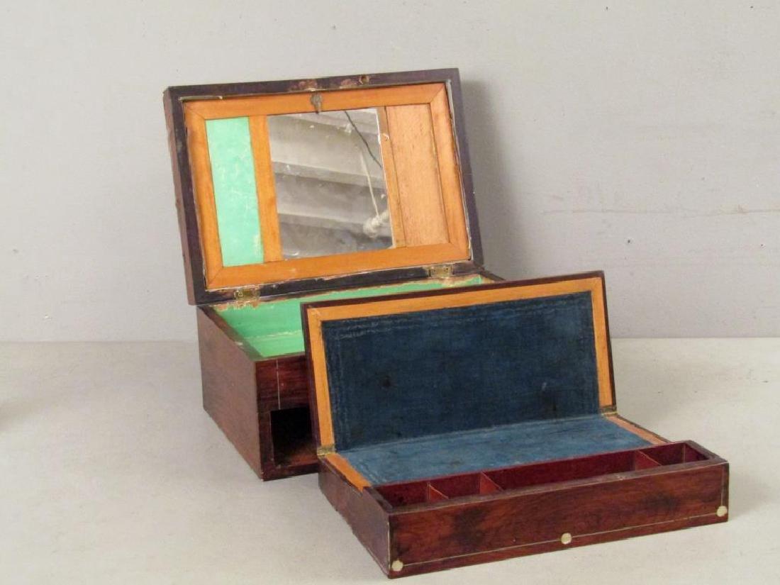 English Mahogany Lap Desk / Vanity Case - 4