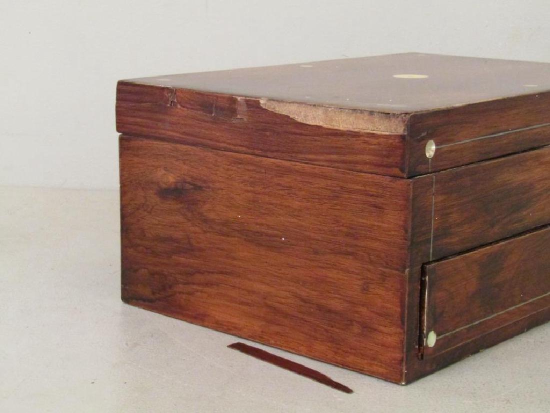 English Mahogany Lap Desk / Vanity Case - 5