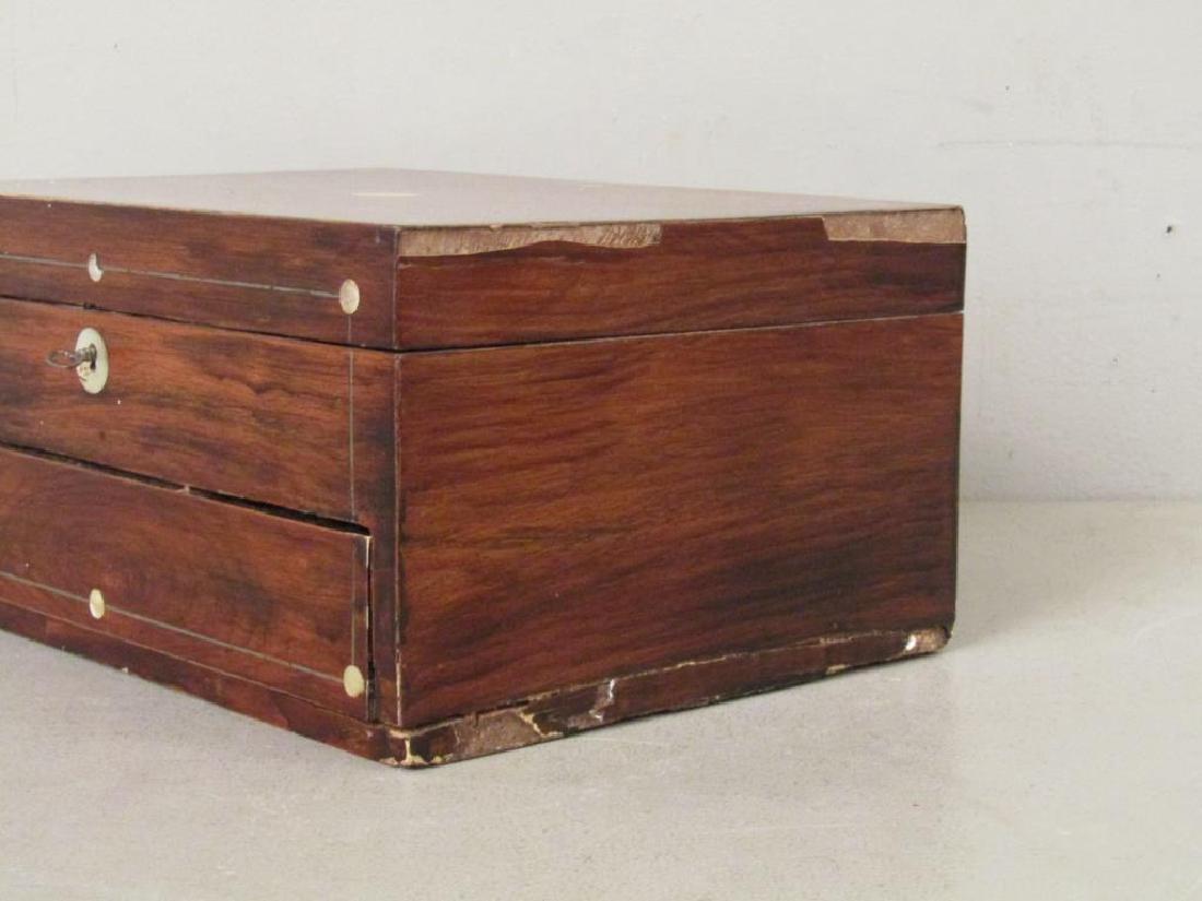 English Mahogany Lap Desk / Vanity Case - 6