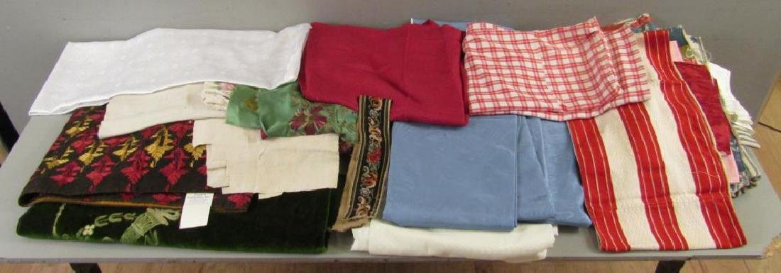 Assorted Textiles and Bolts of Cloth