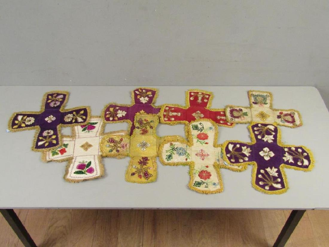 Assorted Religious Textiles and Pillow - 5