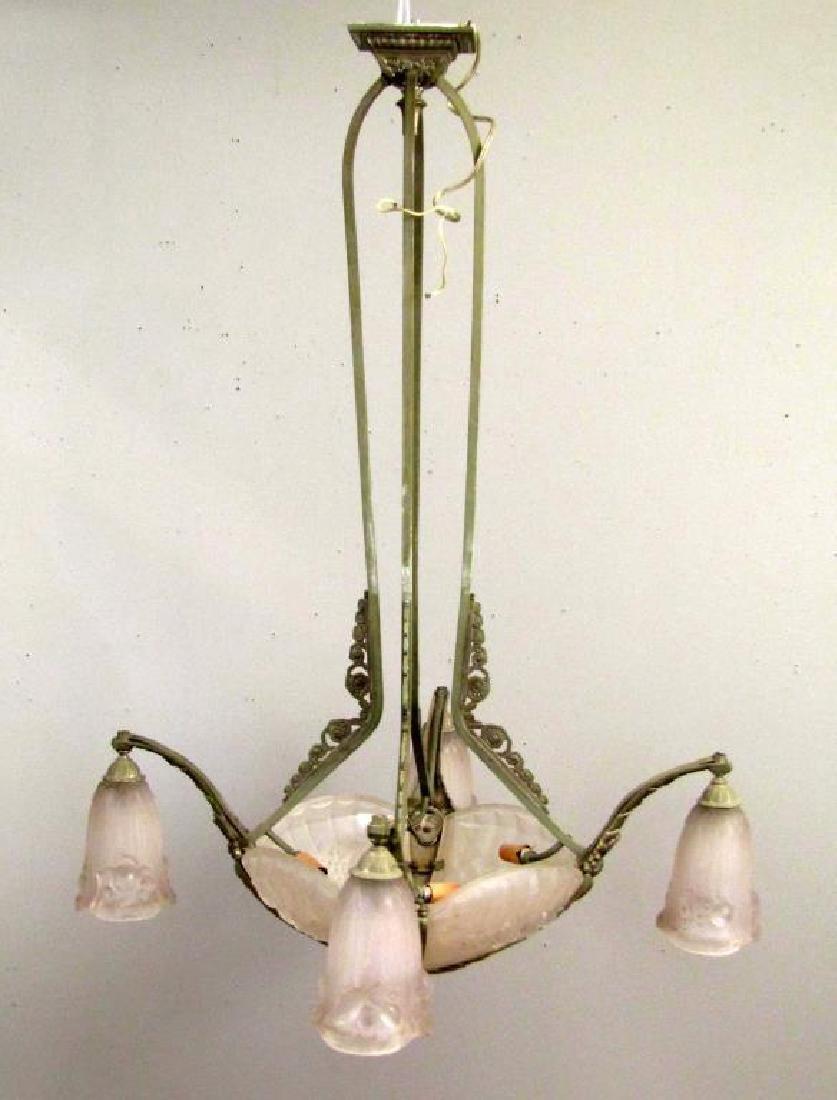 Art Deco Gilles 8 Light Chandelier