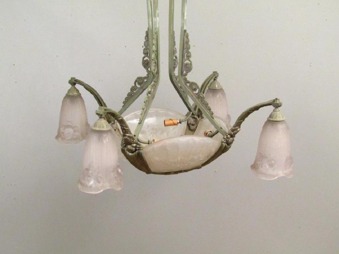 Art Deco Gilles 8 Light Chandelier - 2
