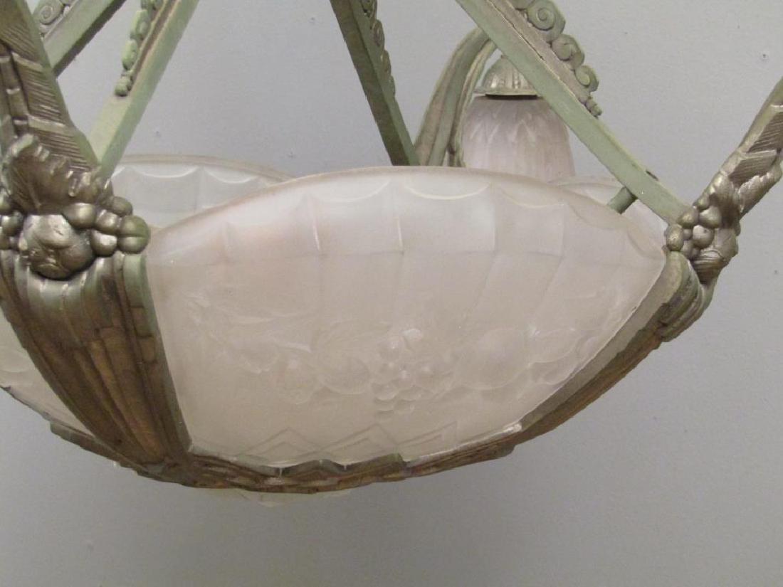 Art Deco Gilles 8 Light Chandelier - 3