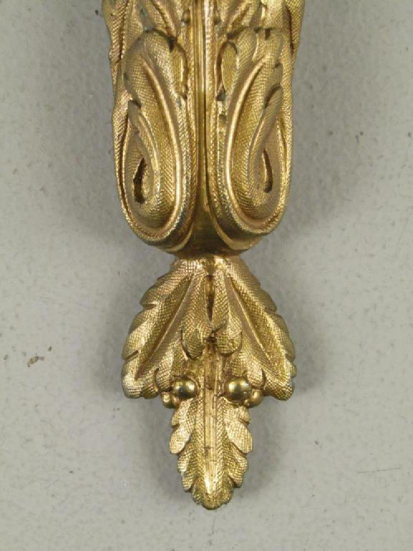Pair French Bronze Sconces - 5