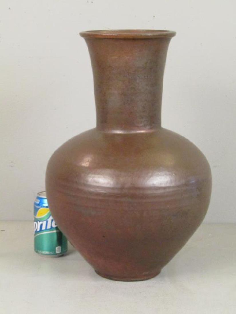 Richard Foye Copperized Raku Ceramic Urn - 2