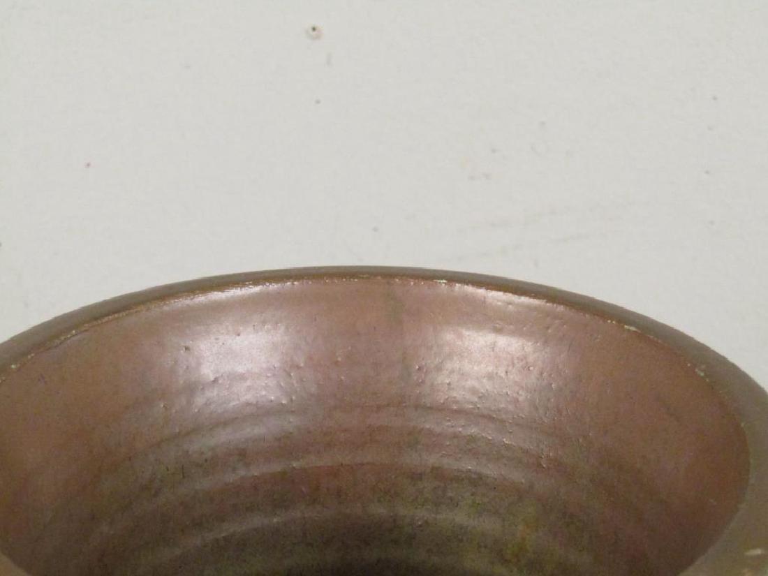 Richard Foye Copperized Raku Ceramic Urn - 3