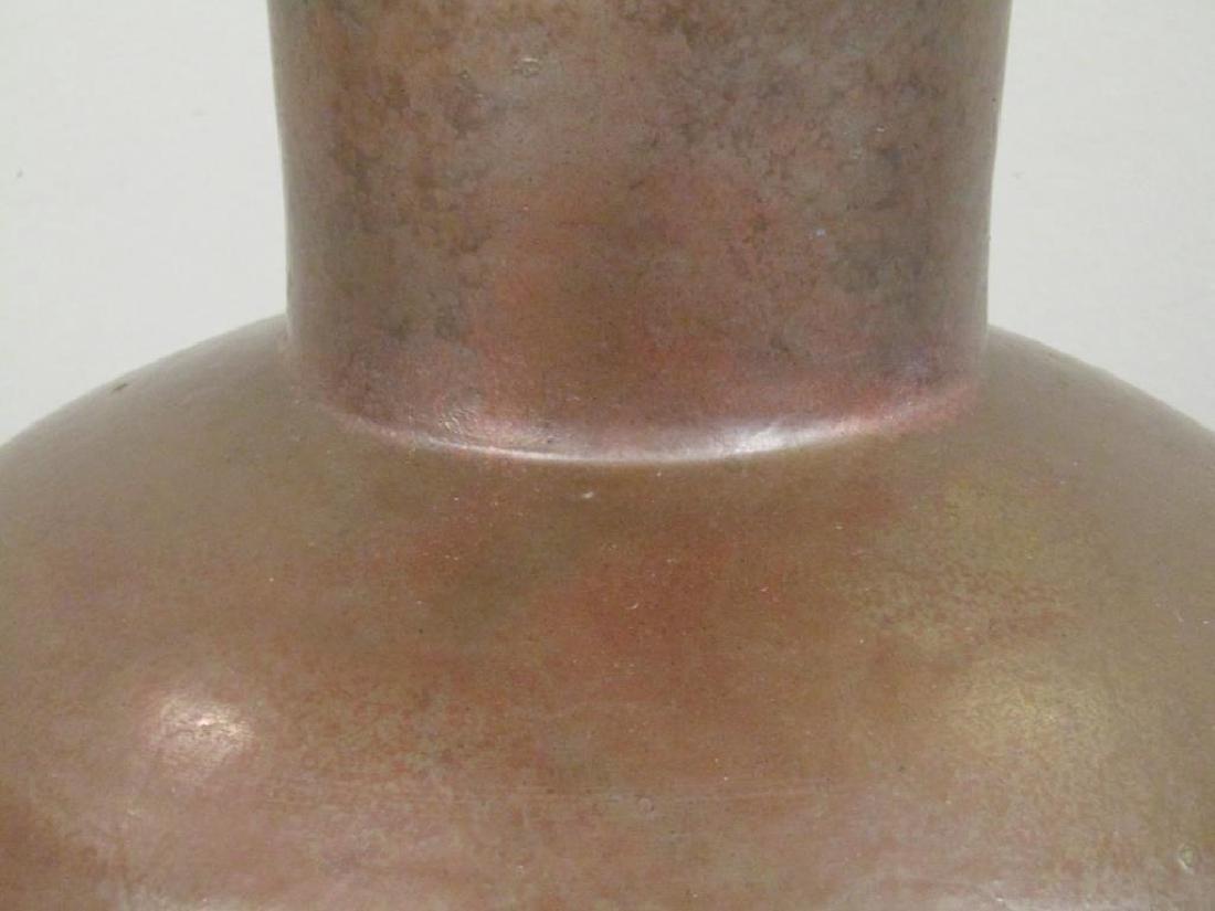 Richard Foye Copperized Raku Ceramic Urn - 4