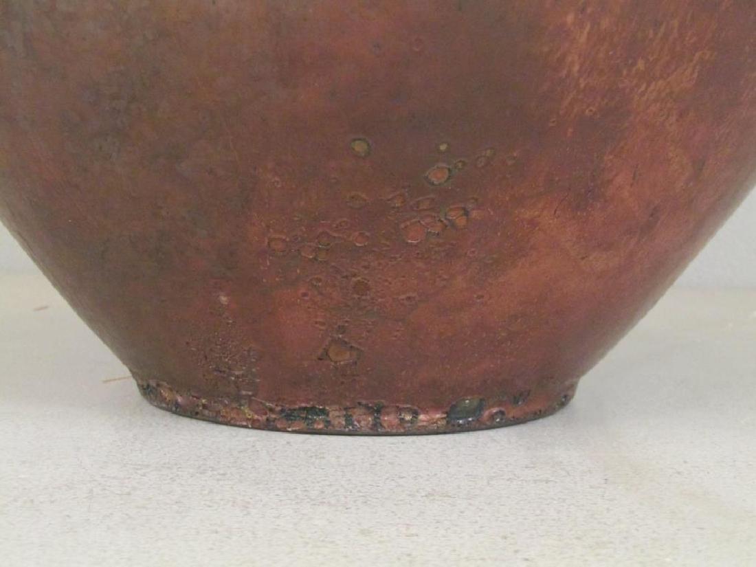 Richard Foye Copperized Raku Ceramic Urn - 5
